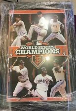 ** RARE 2012 WORLD SERIES GIANTS TEAM SIGNED BOARD AUTOGRAPHED AUTO TRISTAR **