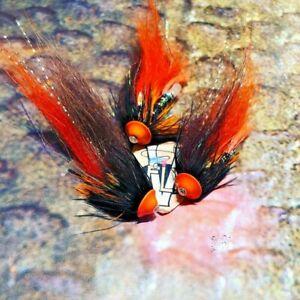 3 V Fly 1 Inch Ultimate Alta Sautso Turbo Disc Salmon Tube Flies & Trebles