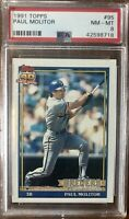 1991 Topps #95 Paul Molitor PSA 8 NM-Mint Condition Milwaukee Brewers HOF
