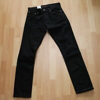 NEU Nudie Jeans GRIM TIM (Slim Straight Leg) Organic Black Ace 32/32