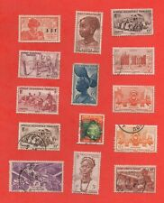 14 timbres Afrique Occidentale - Possession française   (K5143)