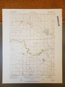 "Bricelyn, Minnesota Original Vintage 1955 USGS Topo Map 21""x17"""