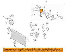VW VOLKSWAGEN OEM 05-14 Jetta 2.5L Radiator-Thermostat Housing Gasket 07K121119A