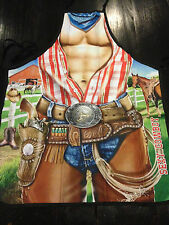 Rodeo Cowboy Farmer Cook Kitchen BBQ Chef Apron Fun Party Novelty Costume