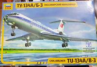 Tupolev Tu-134A e B3 Aeroflot - Zvezda Kit 1:144 7007 Nuovo