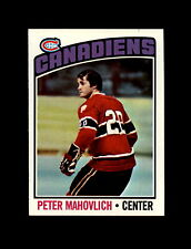 1976-77 Topps Hockey #15 Peter Mahovlich (Canadiens) NM+
