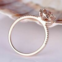 2.50Ct Round Cut Morganite Solitaire Engagement Ring Solid 18K Rose Gold Finish