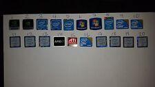 60 x Windows 7 i3 i5 INTEL AMD NVIDIA Adesivo Logo Badge decalcomanie