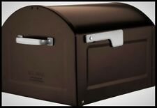 Extra Large Mailbox Residential Bronze Post Mount Jumbo Capacity Box Silver Flag