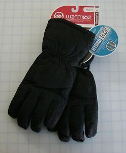 Manzella Warmest Women's Large Black Waterproof Winter Gloves - Never Used