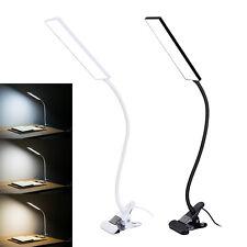 Adjustable Clip On Desk Lamp USB Flexible Reading Study Table Light Home 48 LED