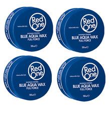 Red One Maximum Control Blue Aqua Hair Wax x 4 - BUBBLEGUM FRAGRANCE