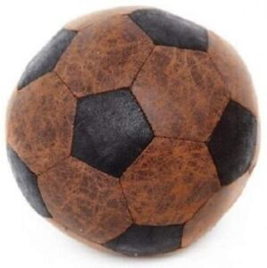 Faux Leather Foot Ball Doorstop