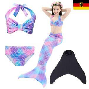 DHL Schwanz flosse Meerjungfrauen Kinder Bikini Mermaid Meerjungfrau Monoflosse