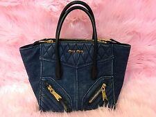 4db0b3910a57 Miu Miu Denim Tote Bags   Handbags for Women