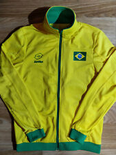 Lotto Brasil National Team Mens Tracksuit Top Jacket Sweatshirt Yellow Brazil