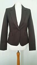H & M Brown Fine Stripe Jacket Size 10 EUR 36 BNWOT