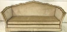 Key City Mfg Skirted Velvet Sofa W/ Brown Welting Lot 2140