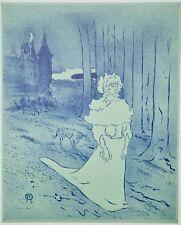 4e1eca98f8f Henri de TOULOUSE-LAUTREC - Lithographie monogrammée - La châtelaine