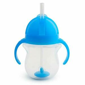 Any Angle Click Lock Weighted Straw Trainer Cup Blue 7oz