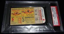 1956 WORLD SERIES GAME 5 TICKET YANKEES MANTLE HR #8 LARSEN PERFECT GAME PSA 4