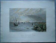 1842 Bartlett print SULINA, MOUTH OF DANUBE, ROMANIA (#84)