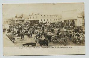 1910 era Schliesingerville Wisconsin Awesome Street Real Photo Postcard RPPC