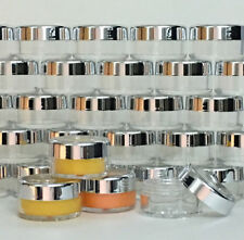 5 Cosmetic Jars Empty Beauty Makeup Containers Silver Acrylic Lids 10 Gram #3011