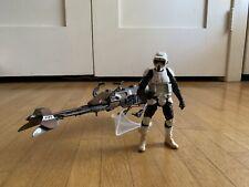 Hasbro Star Wars Black Series - Scout Trooper and Speeder Bike Loose Complete
