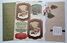 Kanban Woodland Christmas Animals Die Cut Foiled Toppers,Card, Insert Kit 54427