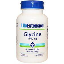Glycine, 1000 mg, 100 Veggie Caps - Life Extension