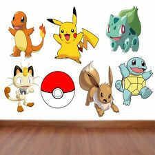 Pokemon Kids Bedroom Vinyl Decal Wall Art Sticker   7 Character Selection