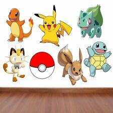 Pokemon Kids Bedroom Vinyl Decal Wall Art Sticker   7 Character Selection
