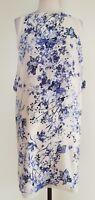 ZARA BASIC White/Blue Floral Dress Size EUR S