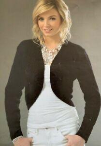 "Ladies Long & Short Sleeved Bolero 32-42"" DK Knitting Pattern  L11"