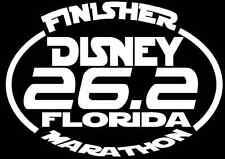 2018 or any year Disney Marathon Finisher 26.2 Florida Decal