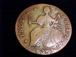 1787 Connecticut Copper, Very Fine Grade.  A coin with a nice planchet.