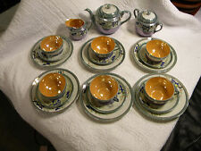 "Vintage Hand Painted Japan Fine China Tea,Cup,Plate Set ""TT"" Takito-Complete"