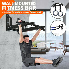 Wall Mount Pull up Bar Chin Indoor Gym Exercise Fitness Equipment Upper Workout