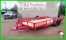 82x20 20' Heavy Duty Trailer Car Bobcat Tilt Utility Construction Landscaping TX