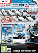 STATION DE SKI SIMULATOR + CHASSE-NEIGE SIMULATOR / PC / NEUF SOUS BLISTER / VF