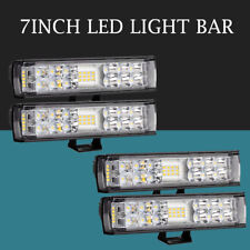 4X 6inch 400W LED Work Light Bar Spot Flood Combo Offroad Fog for Jeep 4WD 7''