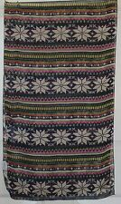 TERRIART Navy, Pink, Multi Graphic Stripes 63x20 Long Scarf-Vintage