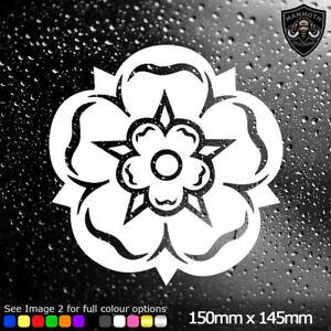 Yorkshire Rose Car Sticker Novelty Window Bumper Decal Yorkshire Van Vinyl