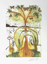 SALVADOR DALI Mad Tea Party Alice Wonderland Litho Print F/Signed