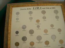 QUADRO COMPLETO MONETE STORIA DELLA LIRA REPUBBLICA ITALIANA DAL 1946 AL 2001
