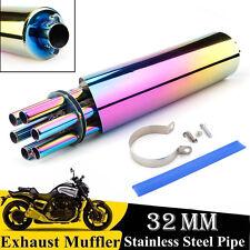 Universal Coloré Stainless Steel Moto silencieux d'échappement Silencieux Pipe