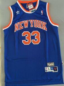 New Patrick Ewing #33 New York Knicks Swingman Throwback Jersey Blue Size S-XXL