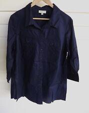 Autograph Women's Blue 3/4 Sleeve Shirt - Size 14