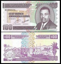 BURUNDI 100 Francs 2011 UNC P 44 b